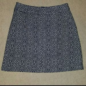 Nwot h&m Navy and white pencil skirt sz 8